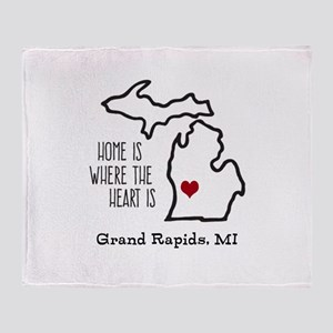 Personalized Michigan Heart Throw Blanket